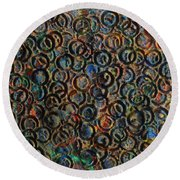Icy Abstract 12 Round Beach Towel