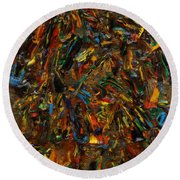 Icy Abstract 2 Round Beach Towel