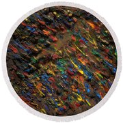 Icy Abstract 5 Round Beach Towel
