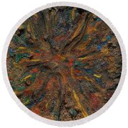 Icy Abstract 6 Round Beach Towel