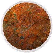Icy Abstract 8 Round Beach Towel