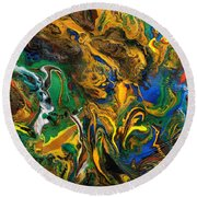 Icy Abstract 9 Round Beach Towel