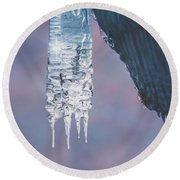 Icy Beauty Round Beach Towel
