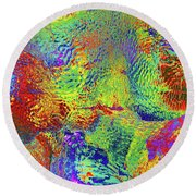 Round Beach Towel featuring the photograph Icy Kaleidoscope by Tony Beck