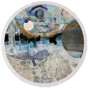 Icy Moon Round Beach Towel
