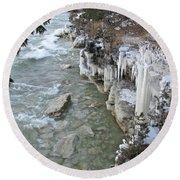 Icy Shores Round Beach Towel