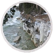 Icy Shores Round Beach Towel