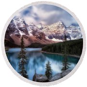 Icy Stillness Round Beach Towel