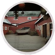 Icy Strait Point Cannery Museum Round Beach Towel