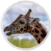Giraffe Spotty Round Beach Towel