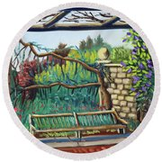 Idaho Botanical Gardens Round Beach Towel