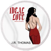 Round Beach Towel featuring the digital art Ideal Love Book Cover by Jayvon Thomas