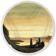 Idylls Of The King Round Beach Towel