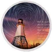If You Close Your Eyes Round Beach Towel