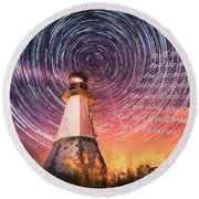 If You Close Your Eyes Too Round Beach Towel