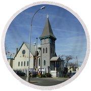 Iglesia Metodista Unida Church Round Beach Towel