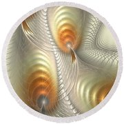 Round Beach Towel featuring the digital art Ignis Fatuus by Anastasiya Malakhova