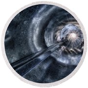 Round Beach Towel featuring the photograph Ignition by Mark Fuller