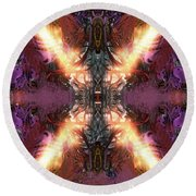 Round Beach Towel featuring the digital art Ignition by Reed Novotny