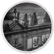 Round Beach Towel featuring the photograph Il Cimitero E Il Duomo by Sonny Marcyan