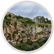 Il Maqluba, Qrendi On A Cloudy Day Round Beach Towel by Stephan Grixti