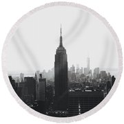 I'll Take Manhattan  Round Beach Towel by J Montrice