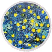 Illumination Round Beach Towel by Evelina Popilian