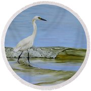 Round Beach Towel featuring the painting Illumination by Phyllis Beiser