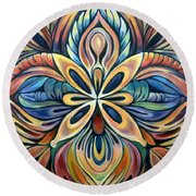 Illumination Round Beach Towel by Shadia Derbyshire