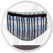 Illusion Round Beach Towel