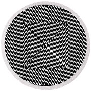 Illusion Exemplified Round Beach Towel