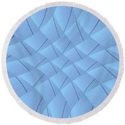 Round Beach Towel featuring the digital art Ilogical by Beto Machado