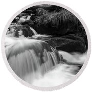Round Beach Towel featuring the photograph Ilse, Harz Monochrome  by Andreas Levi