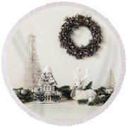 Round Beach Towel featuring the photograph I'm Dreaming by Kim Hojnacki
