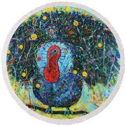 I'm Not Your Dinner Round Beach Towel