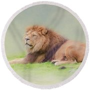 Round Beach Towel featuring the photograph I'm The King by Roy McPeak
