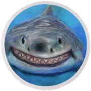 I'm Thinking About You Round Beach Towel