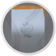 Image Diagram Round Beach Towel