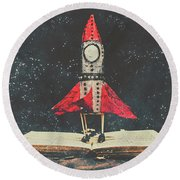 Imagination Is A Space Of Learning Fun Round Beach Towel