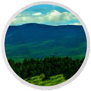 Round Beach Towel featuring the photograph Imagine by Barbara S Nickerson