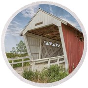 Imes Covered Bridge Round Beach Towel