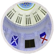 Immagration Flags On Rotundra  Round Beach Towel