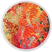 Immersed In Summer Part 3 Of 3 Round Beach Towel