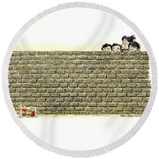 Immigrant Kids At The Border Round Beach Towel