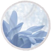 Round Beach Towel featuring the digital art Immobility - Wh01t2c2 by Variance Collections
