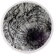 Round Beach Towel featuring the mixed media Impact by Tony Rubino