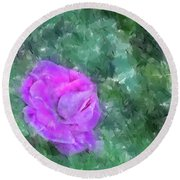 Round Beach Towel featuring the digital art Impasto Rose by Aliceann Carlton