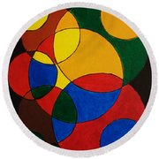 Imperfect Circles Round Beach Towel
