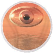 Impossible Eye Round Beach Towel