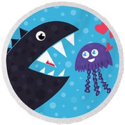 Impossible Love Round Beach Towel